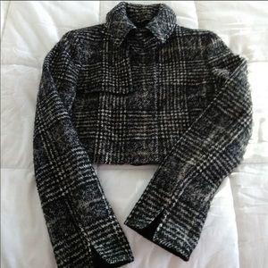EUC Akris Punto mid crop blazer sz 6